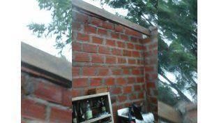 Se voló el techo de una casa en Barranquitas Oeste