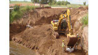 Por la emergencia hídrica avanzan las obras en distintas localidades de la provincia