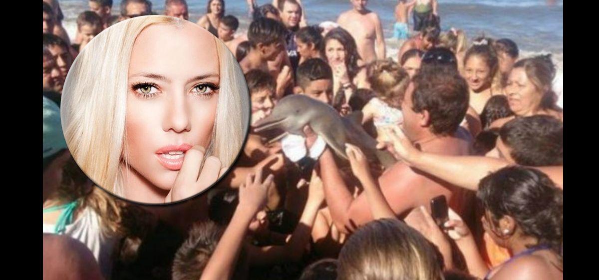 Nicole estalló por la noticia del delfín muerto en Santa Teresita cuando se sacaban una foto