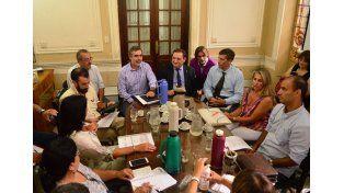 Diálogo abierto. El primer encuentro entre los gremios de la salud y los representantes del Ejecutivo provincial se llevó a cabo en la sede de Trabajo