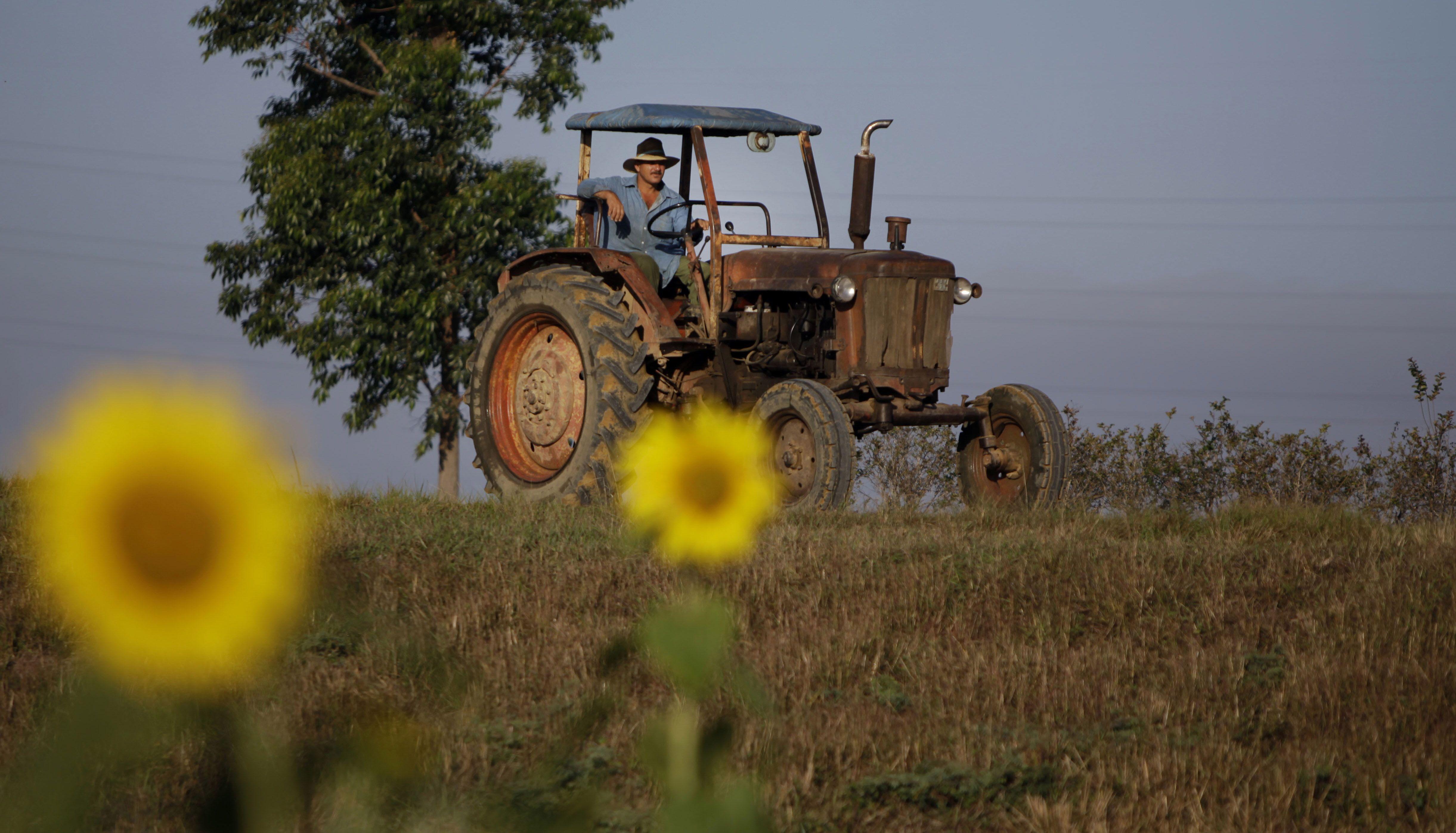 Un viejo tractor cubano en Pinar del Río. El emergente sector privado necesita renovar maquinaria. (AP)