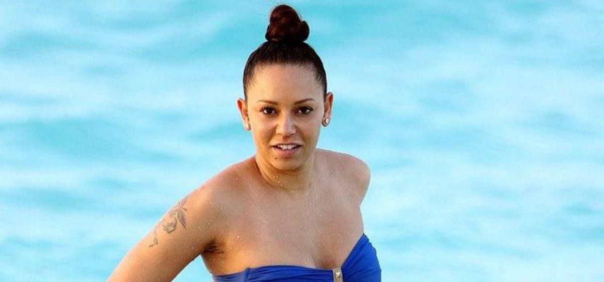 Una ex Spice Girls mostró de más en el mar