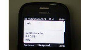 Cuidado con los SMS Hola de extraños