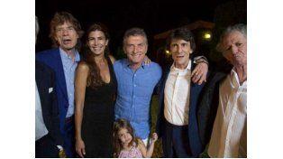 Macri recibió a los Rolling Stones que anoche se despidieron con el último show en Argentina