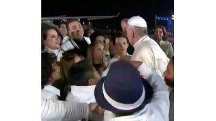 El Papa fue recibido en México por Cristian Castro y un coro con una canción especial para Francisco