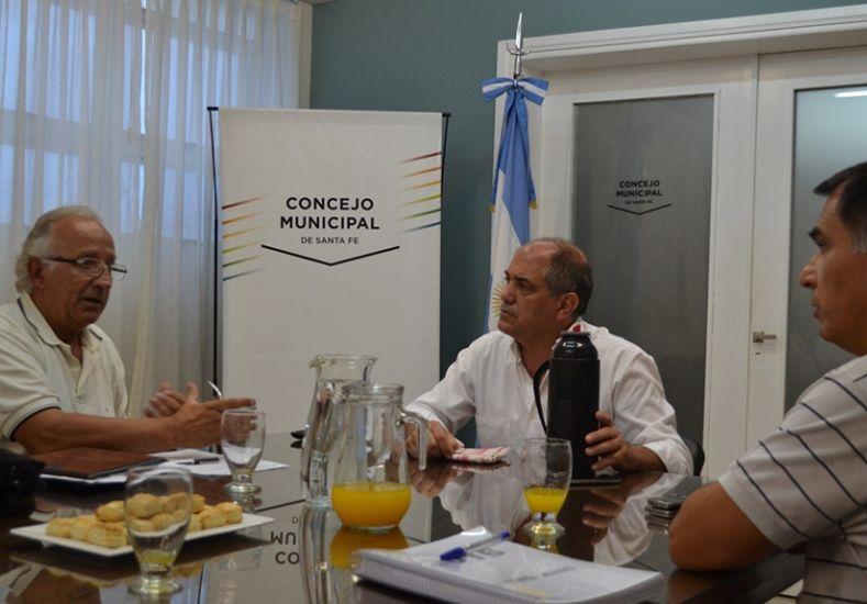 Simoniello se reunió con el Director del aeropuerto de Sauce Viejo