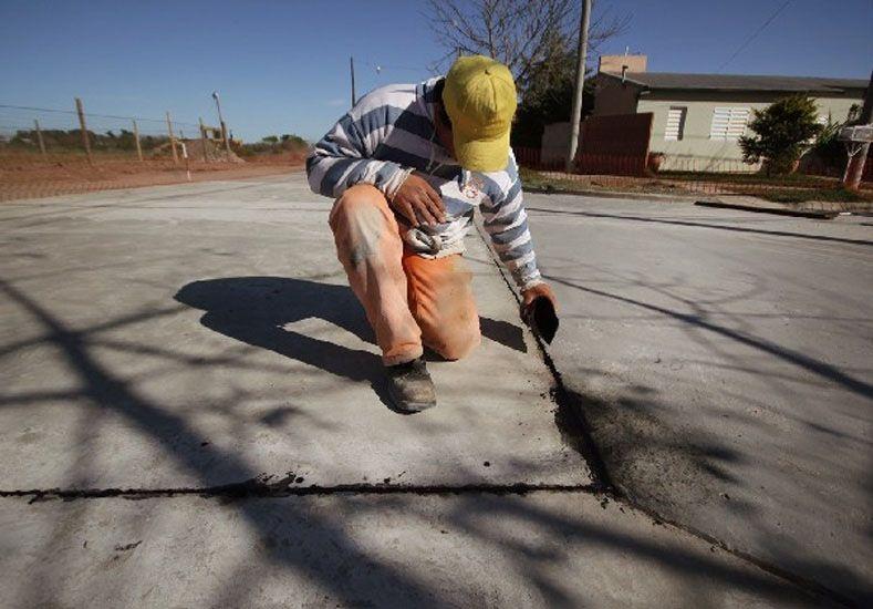 Plan Norte: avanzan las obras de pavimentación en barrio René Favaloro