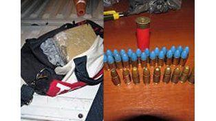 Rosario: incautaron cocaína, marihuana y proyectiles
