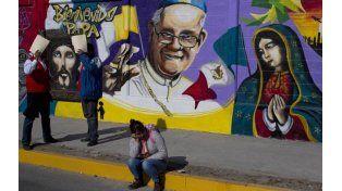 Arte. Un mural urbano exhibe a Jesús