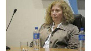 La jueza Mónica Lamperti presidió la extensa jornada de más de siete horas de ayer en Tribunales.