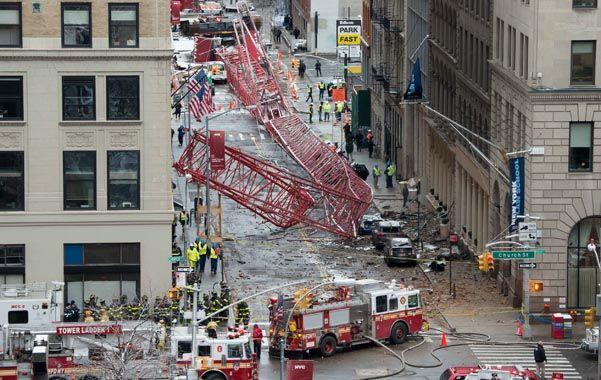 Pudo ser peor. El lugar de la caída está a 10 cuadras del World Trade Center.