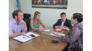 Agenda. Matozo y Migliaro hablaron de proyectos conjuntos para los próximos cuatro años.