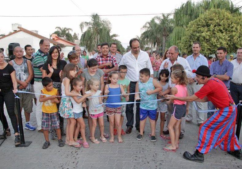 En barrio Ledesco ya son 27 las cuadras con pavimento articulado