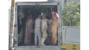 Carne. Con poca demanda