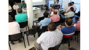 La reunión realizada con autoridades del departamento General Obligado