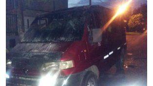 Incendiaron una trafic en barrio San Roque