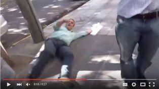Funcionario macrista finge ser atacado por despedidos