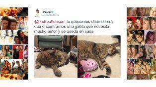 Paula le avisó a Pedro por Twitter que hay una nueva integrante en la familia