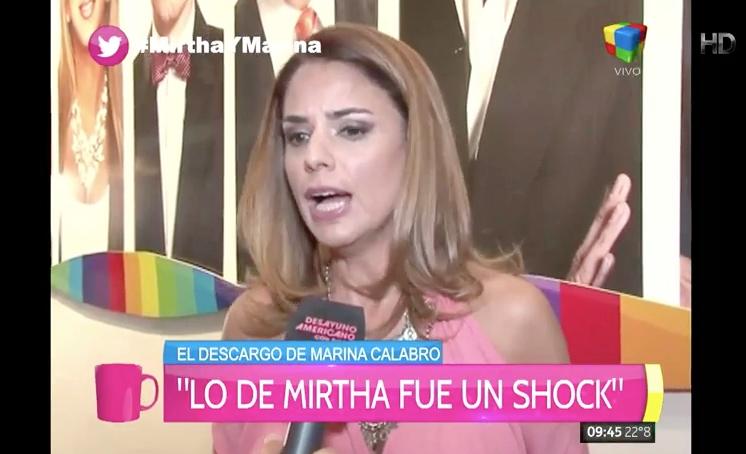 La angustia de Marina Calabró por la feroz pelea con Mirtha Legrand