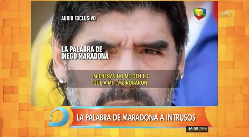 """Maradona: """"Yo sé que esto me va a alejar de mi nieto"""