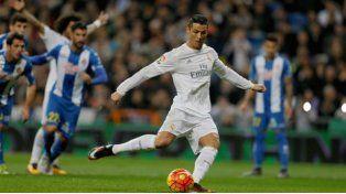 Con tres de CR7, el Real Madrid goleó al Espanyol