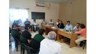 Genesini durante la audiencia entre trabajadores y representantes de la curtiembre SADESA S.A / Foto: Gentileza Prensa Gobierno de la Provincia de Santa Fe