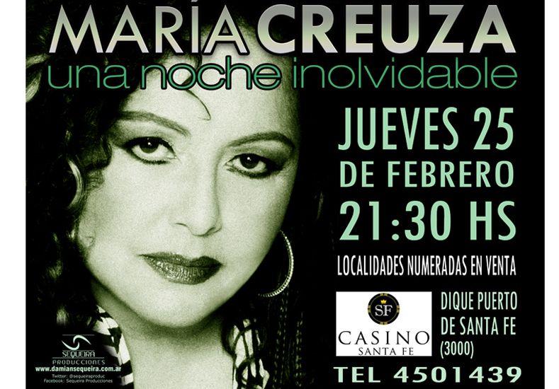 Beneficios UNO te regala entradas para ver a María Creuza en Santa Fe