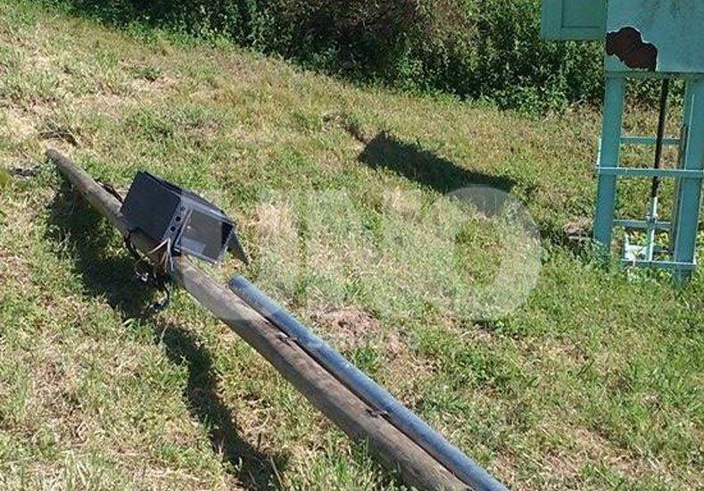 Robaron los cables de potencia que alimentan al equipo de bombeo