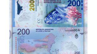 El Banco Central admitió el error y modificará la ballena en el billete de 200 pesos