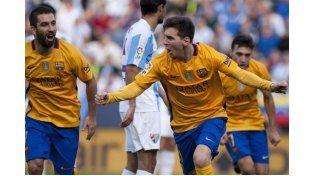 Con un golazo de tijera de Messi, el Barcelona derrotó al Málaga
