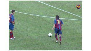 Se viralizan imágenes inéditas de Messi jugando a los 17 años