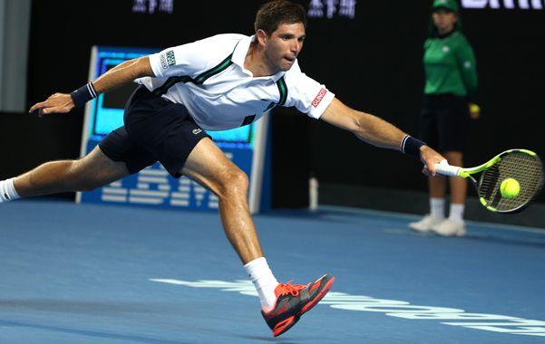 El tenista argentino no pudo hacer demasiado contra el francés.