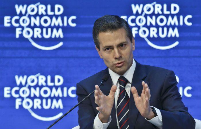 Decidido. Peña Nieto en Davos ratificó que el narco será enviado a EEUU.