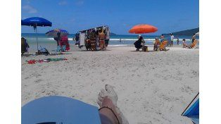 Georgina Treglia y su familia descansaron en Praia Brava