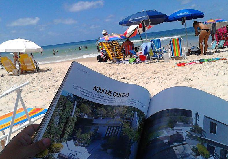 Muchos santafesinos aprovecharon la belleza de las playas brasileras.