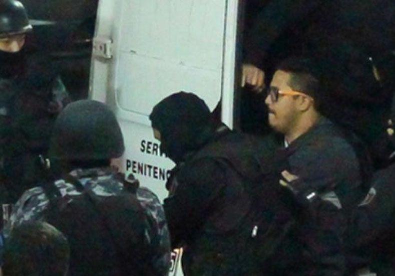 Guille Cantero es fuertemente custodiado por el Servicio Penitenciario de Santa Fe. Desde esta mañana está en una cárcel de Buenos Aires.