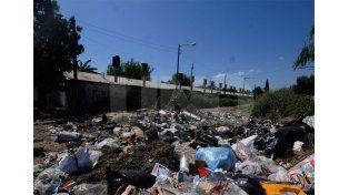 De todo. En Lisandro de la Torre y las vías hay mucha acumulación de basura; además los yuyos están muy altos / Foto: José Busiemi - Uno Santa Fe