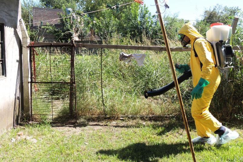 Por un caso positivo de dengue en Santo Tomé, fumigaron 140 domicilios