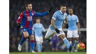 Kun goles: Agüero hizo un doblete en el triunfo del City sobre Crystal Palace