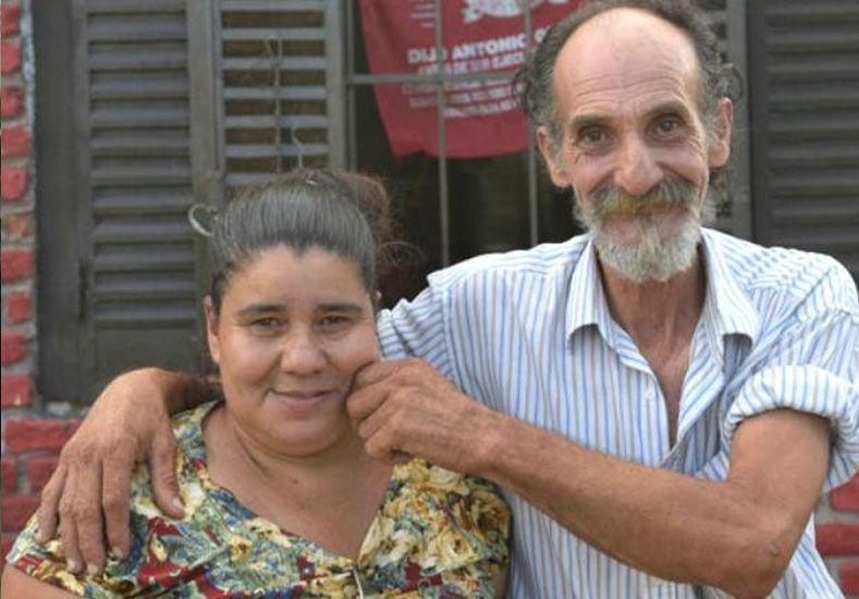 Con su mujer. Alfredo y Mónica