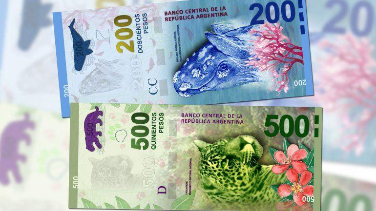 El Banco Central emitirá billetes de $200, $500 y $1.000 con figuras de animales