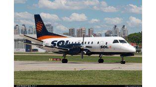 La aerolínea Sol canceló todos sus vuelos: habría quebrado