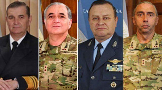 Macri designó a la nueva cúpula de las fuerzas armadas