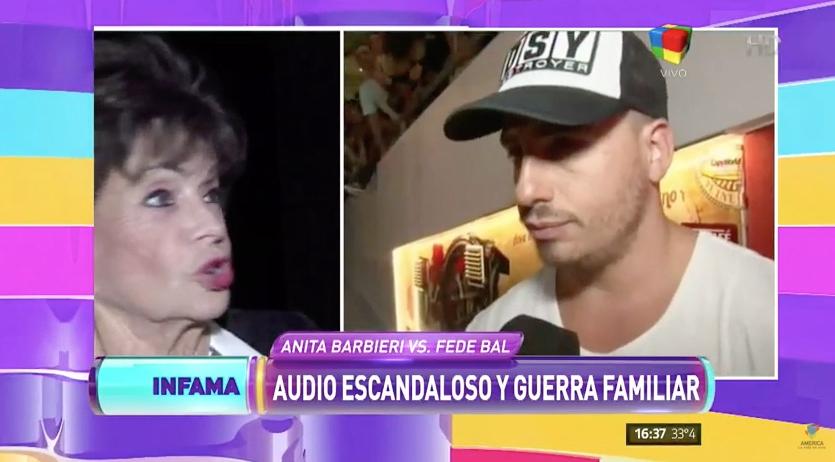 Federico Bal se enojó con Infama por pasar los audios de su abuela: la nota de la discordia