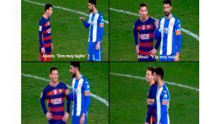 Y vos sos muy malo, la respuesta de Messi a un rival que le dijo bajito