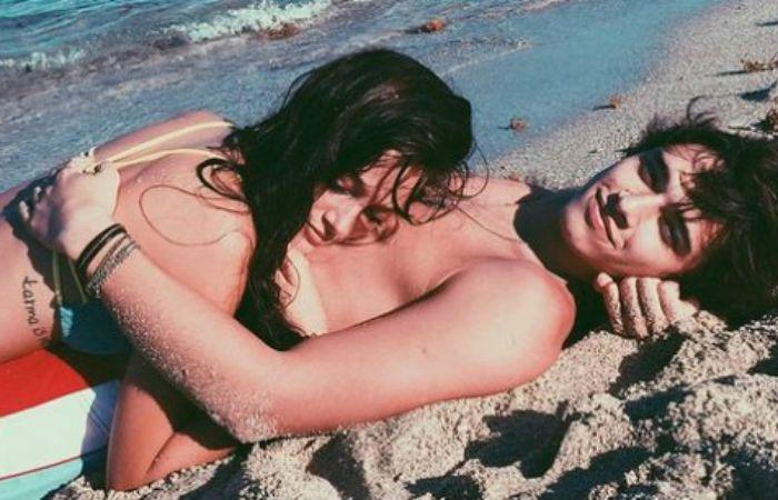 Oriana Sabatini y Julián Serrano disfrutan su amor en Punta Cana.