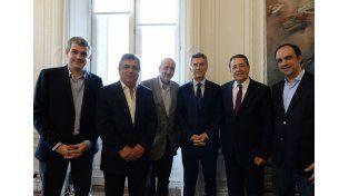 Corral y Macri se reunieron con el secretario general de la Internacional Socialista