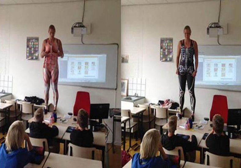 El ingenioso método de una profesora para enseñar anatomía