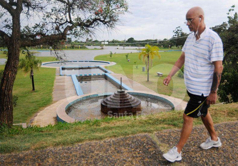 Sin actividad. La intención es evitar que todo el parque se llene de agua y también afecte a El Quillá / Foto: Manuel Testi - Uno Santa Fe