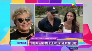 Carmen Barbieri y un gesto de acercamiento a su hijo y Barbie Vélez